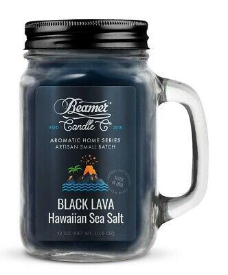 Beamer Smoke Killer Candle 12 oz - Scent: Black Lava Hawaiian Sea Salt - Best!