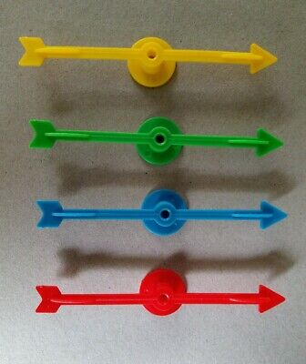 4 Plastic Arrow Game Spinners for School or Board Game (10cm)
