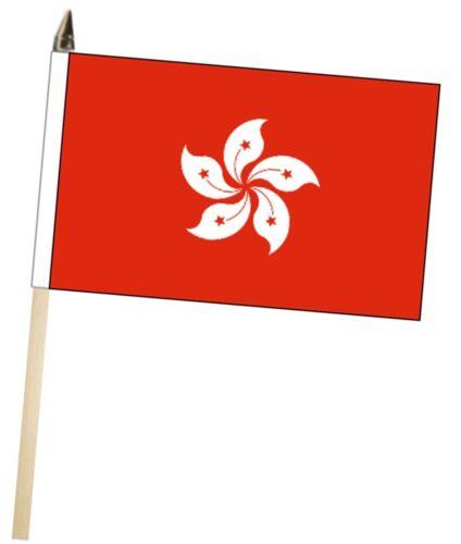 China Hong Kong Region Large Hand Waving Courtesy Flag