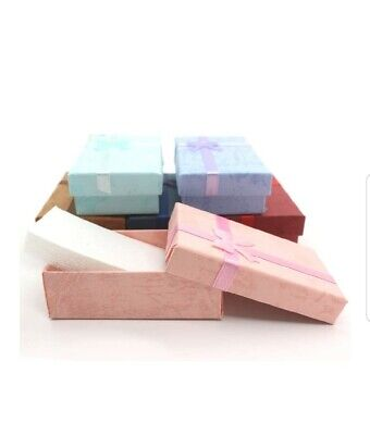 4x Jewelry Gift Boxes For Earringsnecklacesmall Gift Asstdcolors