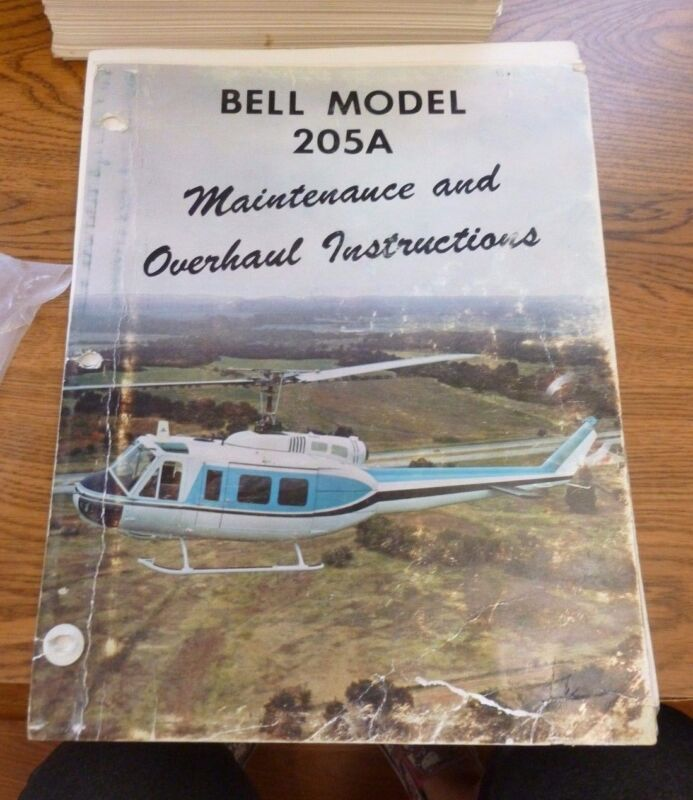1968 BELL HELICOPTER MODEL 205A MAINTENANCE & OVERHAUL INSTRUCTIONS MANUAL