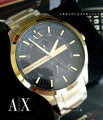 AUTHENTIC ARMANI EXCHANGE AX2122 SMART GOLD TONE BLACK DIAL MEN'S WATCH