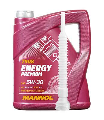 4 Liter Motoröl 5W-30 für BMW LL-04 MB229.51 dexos2 ENERGY PREMIUM Einfüllhilfe