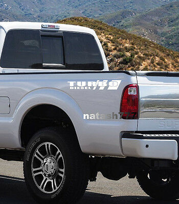 TURBO DIESEL Truck FORD F250 F350 F450 Dually Lariat XLT XL 4x4 Decal sticker W