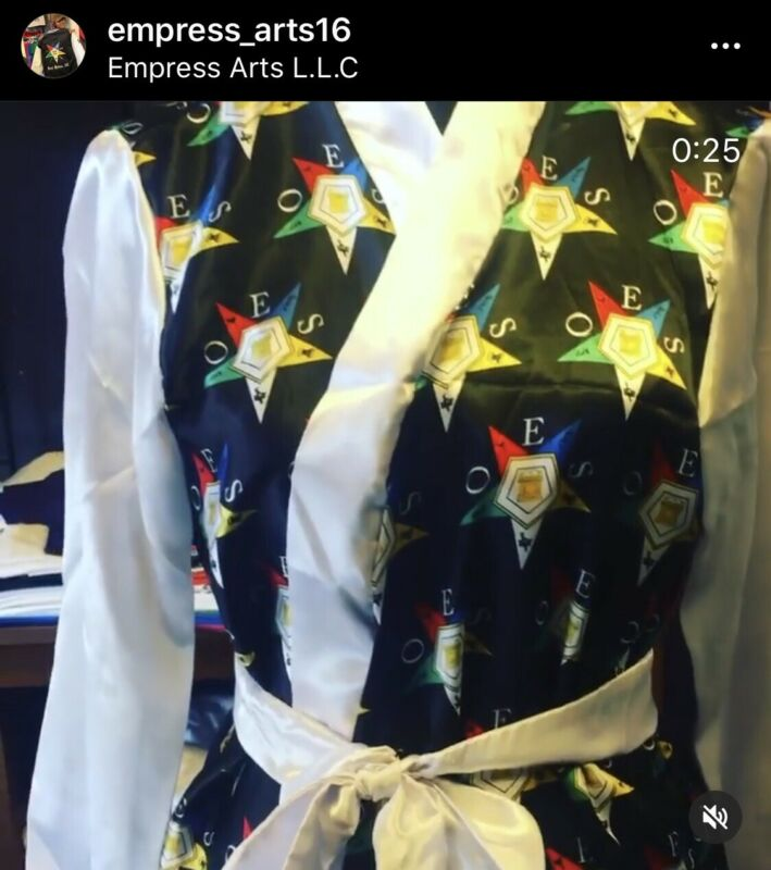 Order Of The Eastern Star Satin Robe (No design on back) 4Xlarge