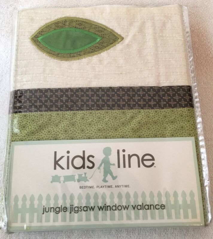Kids Line Jungle Jigsaw Window Valance