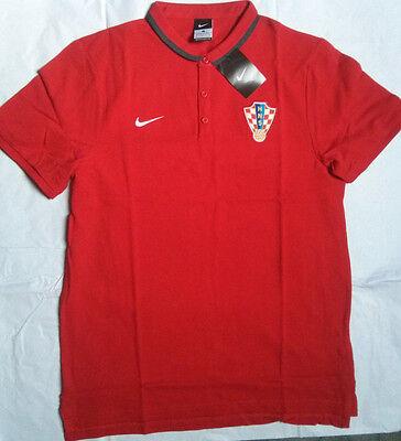 429626fa98d CROATIA Nike POLO SHIRT Trikot Top Soccer Jersey Official Red HNS Medium