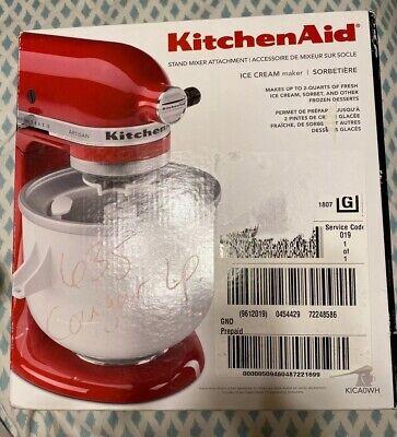 KitchenAid KICA0WH 2-Quart 400W Ice Cream Mixer Attachment