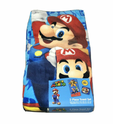 Super Mario 2 Pc Bath Set-Towel & Washcloth