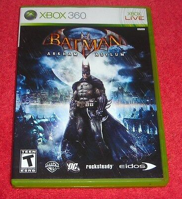 XBOX 360 BATMAN ARKHAM ASYLUM VIDEO GAME, used for sale  Shipping to India