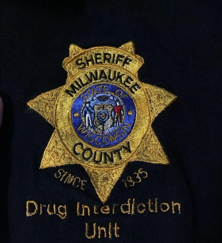 Vtg 90s Milwaukee Sheriff Drug Interdiction Polo Shirt L Police Highway Patrol