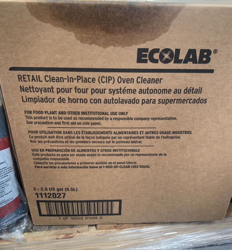 Ecolab Retail Clean-In-Place (CIP) Oven Cleaner (2)2.5 Gallon