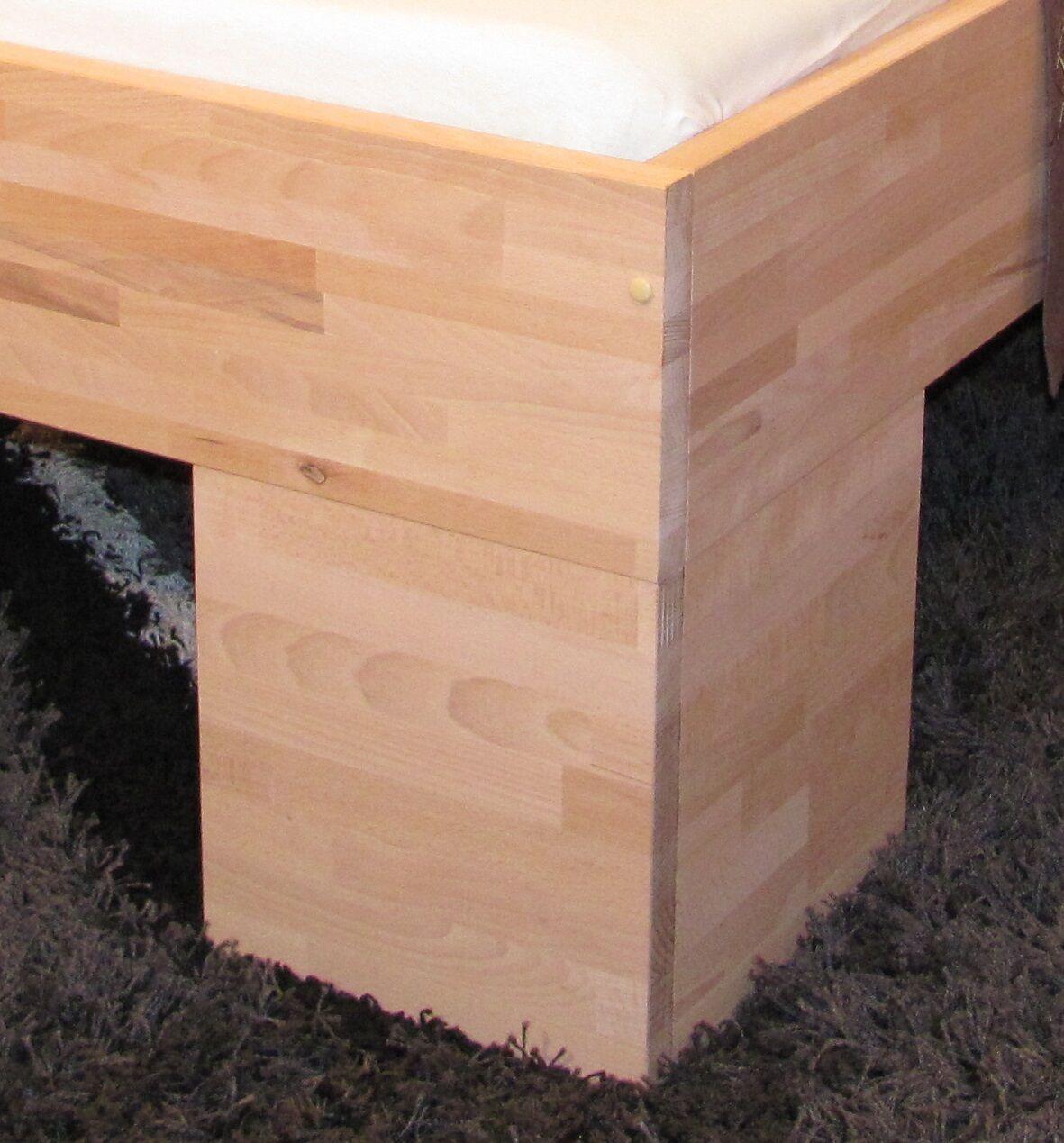 vollholzbett massivholzbett 100x200 bettgestell einzelbett. Black Bedroom Furniture Sets. Home Design Ideas