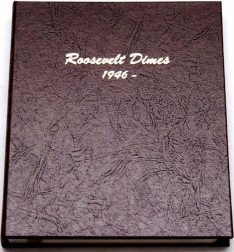 Dansco Coin Album 7125 Roosevelt Dimes 10 cents 1946-Date P D & S Mints  Book