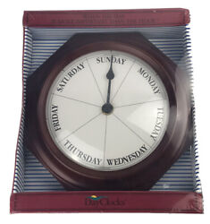 Keep Track Of Days, Not Time - Day of the Week Mahogany Wall Clock