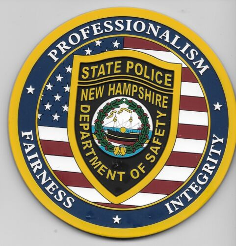 New Hampshire State Police US Flag patch PVC NH Awesome