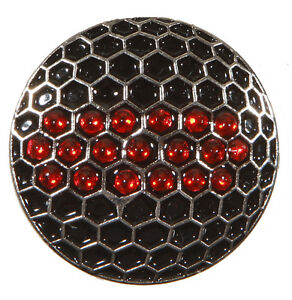 Black-Golf-Ball-Marker-with-Red-Crystals-amp-Magnetic-Hat-Clip