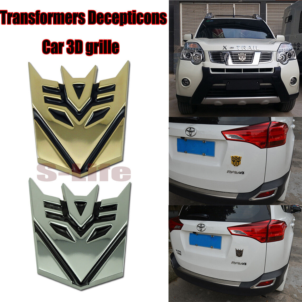 Autobot Transformers 3d Metal Car Grill Emblem Badge Truck