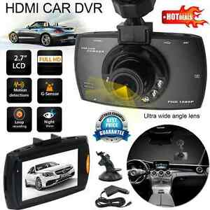 Full HD 1080P Car DVR Camera Dash Cam Video 2.3'' LCD G-sensor Night Vision AU #