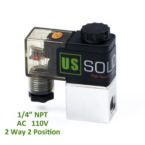 """1/4"""" Pneumatic Electric Solenoid Valve 2 Way 2 Position AC 110V, Normally Closed"""