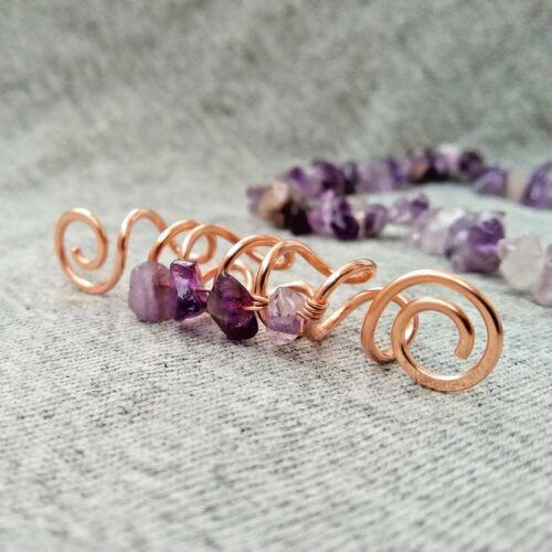 Amethyst loc jewelry crystal dreadlock bead dread bead hair jewelry for braids