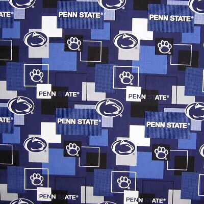 College Fabric - Penn State Nittany Lion Blue & White Patch - Sykel YARD - Nittany Lion Costume