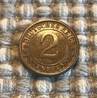 2 Rentenpfennig von 1924 A / Deutsches Reich
