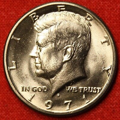 1971 D KENNEDY HALF DOLLAR FROM OBW BU  BEAUTIFUL COLLECTOR COIN GIFT KH51