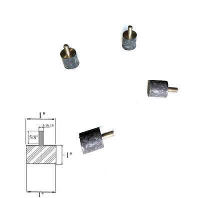 4 Rubber Vibration Isolator Mounts 1 Dia X 1 Thk 516-18 X 58 Long Stud