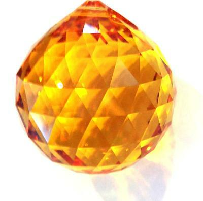 20mm Swarovski Strass Topaz Crystal Ball Prisms Feng Shui Wholesale CCI 8558