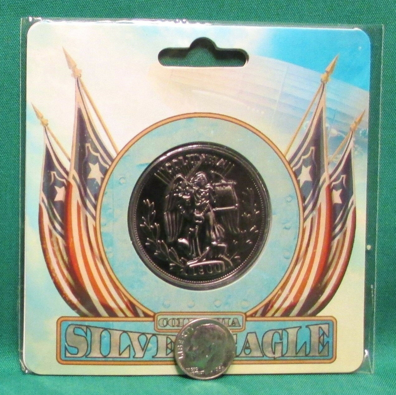 """Official BioShock Infinite Silver Eagle Collectible 1.5"""" Coin *NEW SEALED*"""