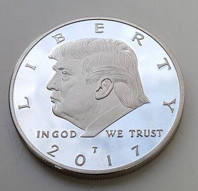 Donald Trump Silver Coin United States of America Novelty Washington New York UK