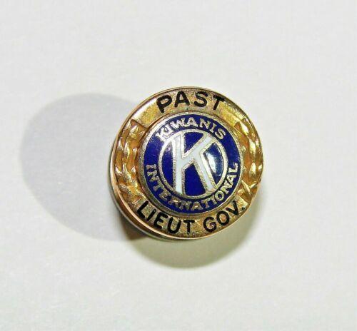 14K YELLOW GOLD KIWANIS INTERNATIONAL PAST LIEUTENANT GOVERNOR TIE TACK PIN