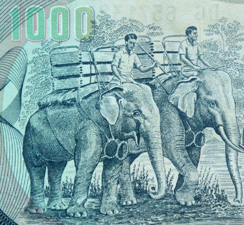 VIETNAM WAR MONEY 1972 SOUTH VIETNAMESE 1000 Dong ELEPHANT BANKNOTE Mint