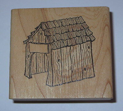 Dog House Rubber Stamp G Rated Retired Shingles Wood Grain Detailed Name Plate for sale  Marysville