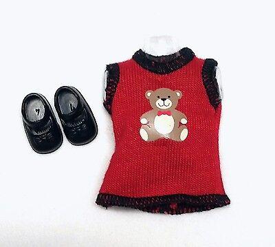 Barbie Sister Kelly Doll Clothes Fashion Avenue Teddy Bear Dress + Shoes New