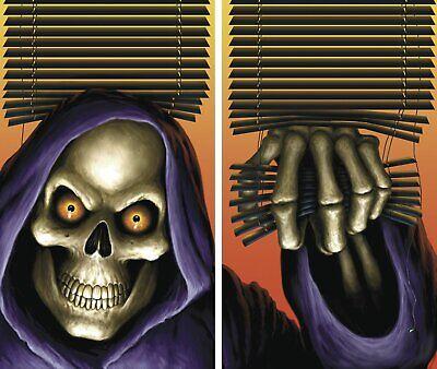 Halloween Backlit Window Posters (WOWindow Posters Grim Reaper Halloween Window Decoration Two 34.5