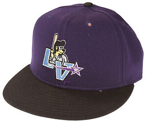 Pro-Line-MiLB-Minor-League-Baseball-Las-Vegas-Stars-Elvis-Cap-Hat-Purple