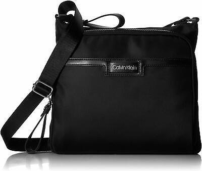 Calvin Klein Lane Nylon North/South Unisex Messenger Crossbody - Black *NEW*