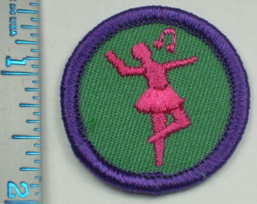 Vintage Girl Scout Badge - Dance - 1980-2001 - retired