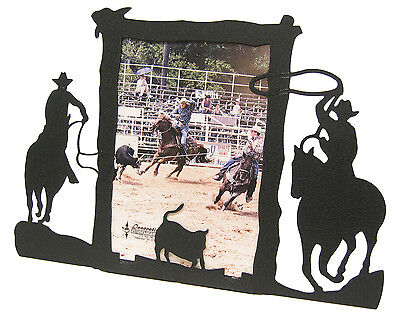 Team Roping Calf 2 Horse Picture Frame 5x7 V