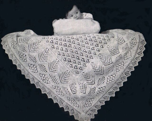 Over 100 Vintage Baby Shawls Clothes Blankets Knitting Crochet