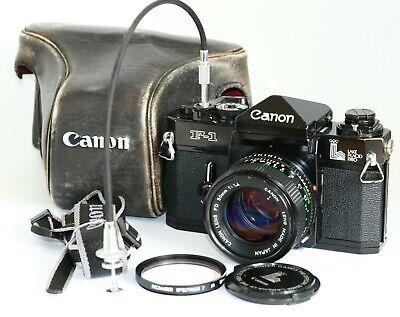 Canon LAKE PLACID F1 F-1 SLR 35mm FILM SLR Camera 50MM F1.4 50/1.4  LENS