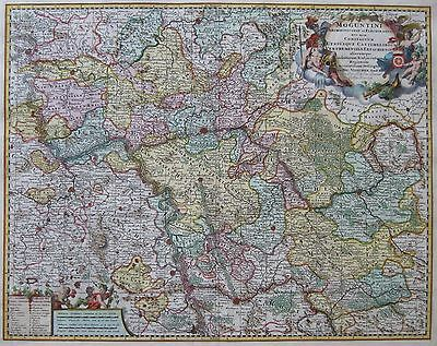 Kurfürstentum Mainz - Moguntini Archiepiscopat... von Nicolaes Visscher - 1698