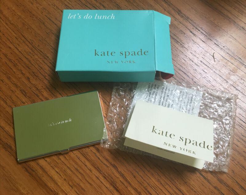 "Kate Spade -Lenox -""Let's Do Lunch""- ID/Business Card Holder-NIB"