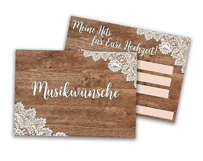 Hochzeit Spiel Musikwünsche 50 Karten Gastgeschenk Hochzeitsspiel Karte Vintage (Hochzeit Karten Spielen)