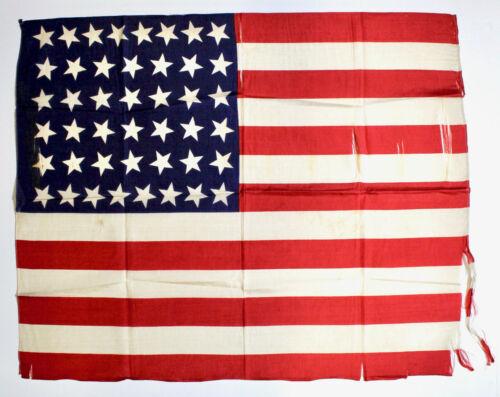 44-Star Antique American Flag, Silk, circa 1890