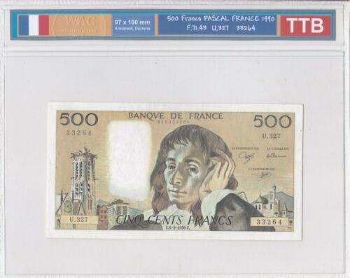 Ticket From 500 Francs Pascal 1990 Ttb