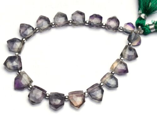 """Natural Gem Rainbow Fluorite 9x7 to 11x9mm Size Faceted Briolette Beads 8"""""""