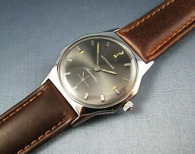 Vintage Longines Wittnauer Stainless Steel Automatic Mens Watch 17J 11KA 1960s